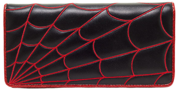 Sourpuss - Spiderweb Wallet Red - Women's Wallets