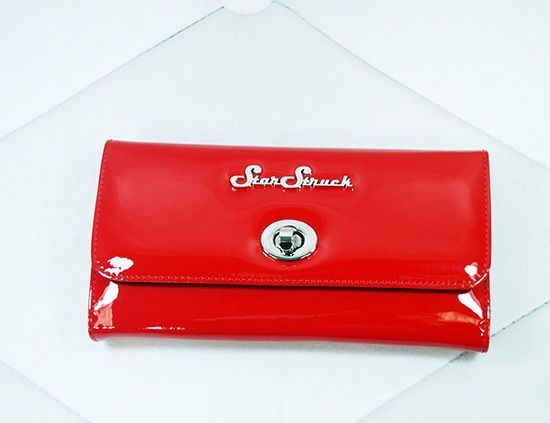 Star Struck Tri-Fold Wallet - Red