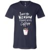 Image of Mom needs coffee | Canvas Youth Short Sleeve V-Neck Jersey T-Shirt