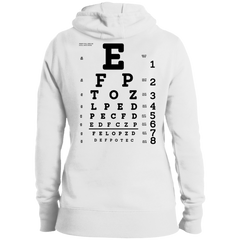 Eye Exam LST254 Ladies' Pullover Hooded Sweatshirt