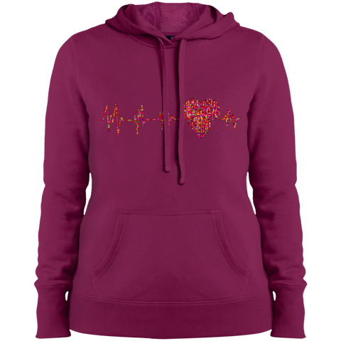 ECG Heart LST254 Ladies' Pullover Hooded Sweatshirt