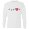 Image of ECG Heart 949 Lightweight LS T-Shirt
