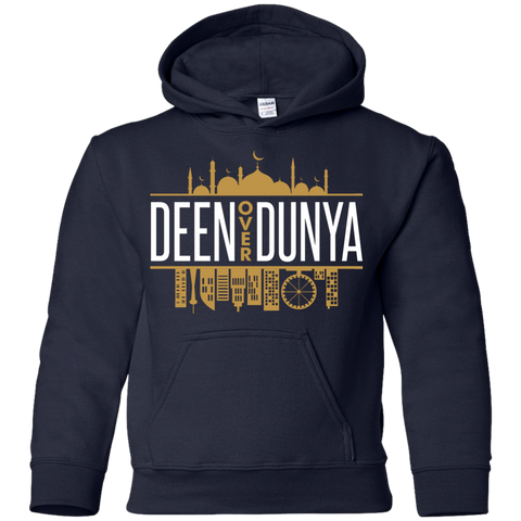 Deen Over Duniya Youth Pullover Hoodie