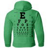 Image of Eye Exam G185B Gildan Youth Pullover Hoodie