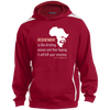 Image of Nelson Mandela | RESENTMENT | Sport-Tek Sleeve Stripe Sweatshirt with Jersey Lined Hood