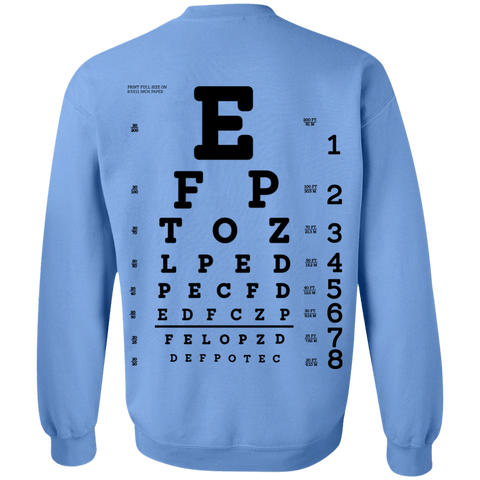 Eye Exam G180 Crewneck Pullover Sweatshirt  8 oz.
