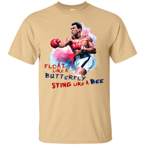 Muhammad Ali | Float like a butterfly, Sting Like a Bee | Cotton T-Shirt