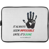 Image of Nelson Mendela Quote | Laptop Sleeve - 15 Inch