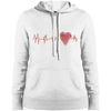 Image of ECG Heart LST254 Ladies' Pullover Hooded Sweatshirt