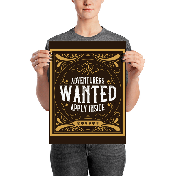 Adventurers Wanted Apply Inside Poster - Dungeon Armory - Tabletop RPG Shirt Dungeons & Dragons T-Shirt Pathfinder RPG T-Shirt