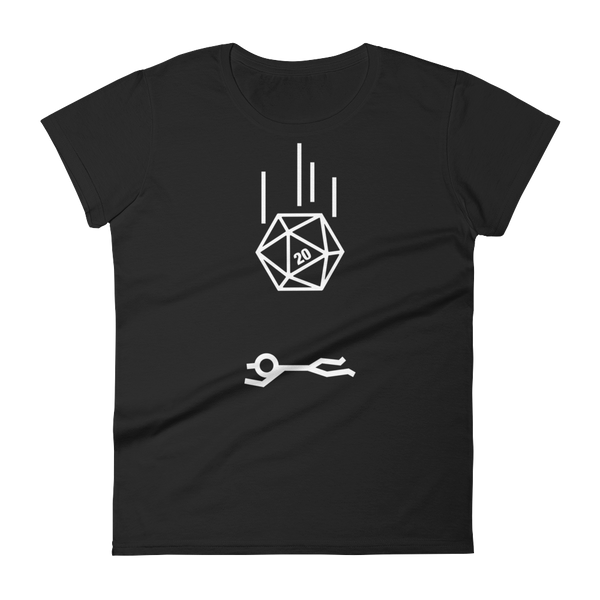 D20 Dice Critical Hit Meme Women's RPG Shirt - Dungeon Armory - Tabletop RPG Shirt Dungeons & Dragons T-Shirt Pathfinder RPG T-Shirt