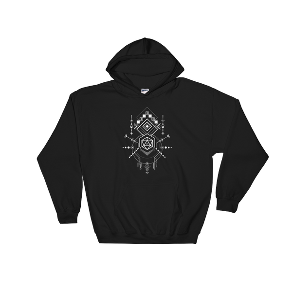 Minimalist D20 Dice for DM Hooded DnD Sweatshirt - Dungeon Armory - Tabletop RPG Shirt Dungeons & Dragons T-Shirt Pathfinder RPG T-Shirt