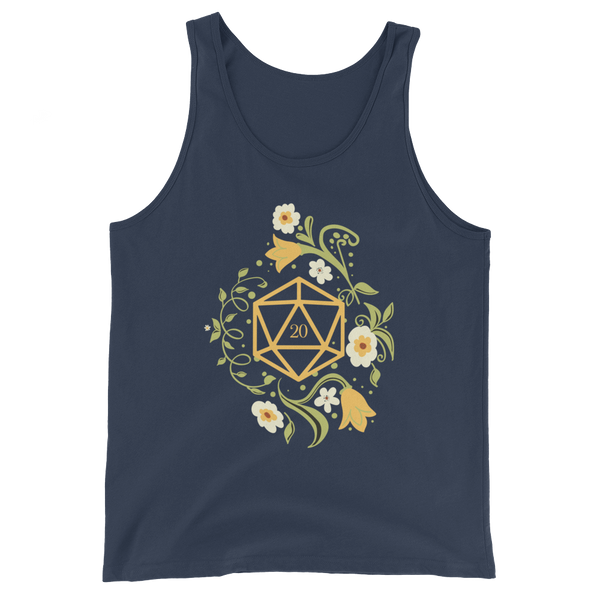Polyhedral D20 Dice of The Druid Unisex RPG Tank Top