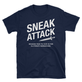 Dungeons and Dragons Shirt - Rogue Sneak Attack - Illiterate Barbarians Unisex RPG Shirt - DnD Shirts Dungeon Armory
