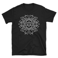 D20 Dice Monogram Design White Unisex RPG Shirt - Dungeon Armory - Tabletop RPG Shirt Dungeons & Dragons T-Shirt Pathfinder RPG T-Shirt
