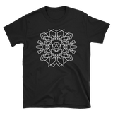 D20 Dice Monogram Design White Unisex RPG Shirt - Dungeon Armory