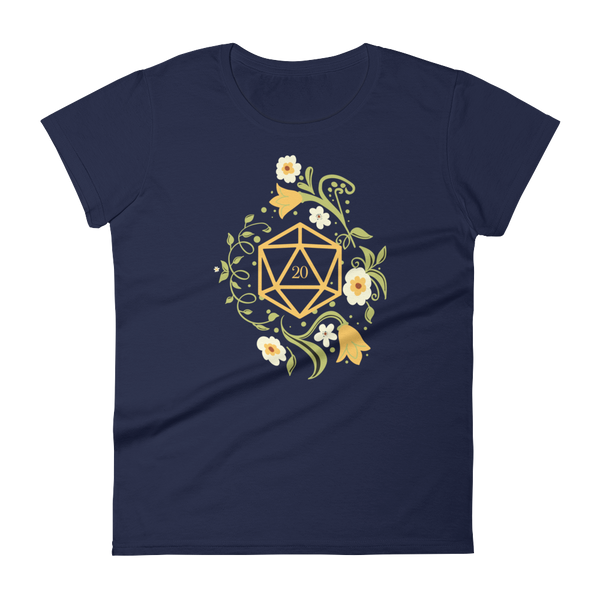 Polyhedral D20 Dice of The Druid Women's RPG Shirt