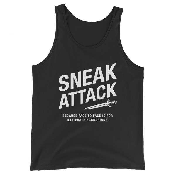Sneak Attack Rogue Unisex RPG Tank Top - Dungeon Armory - Tabletop RPG Shirt Dungeons & Dragons T-Shirt Pathfinder RPG T-Shirt