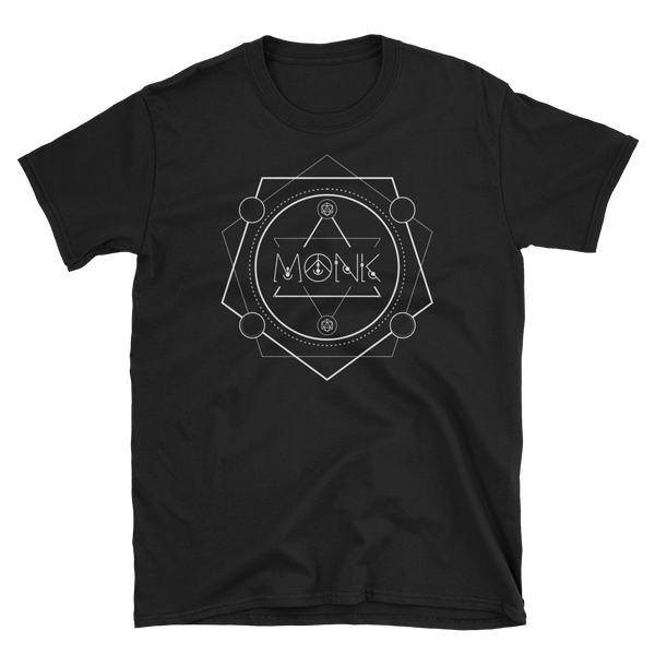 Monk Minimalist Emblem Unisex RPG Shirt - Dungeon Armory - Tabletop RPG Shirt Dungeons & Dragons T-Shirt Pathfinder RPG T-Shirt