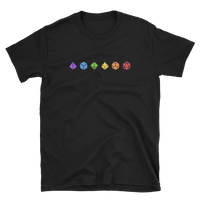 Horizontal Colorful Polyhedral Dice Set Unisex RPG Shirt - Dungeon Armory - Tabletop RPG Shirt Dungeons & Dragons T-Shirt Pathfinder RPG T-Shirt