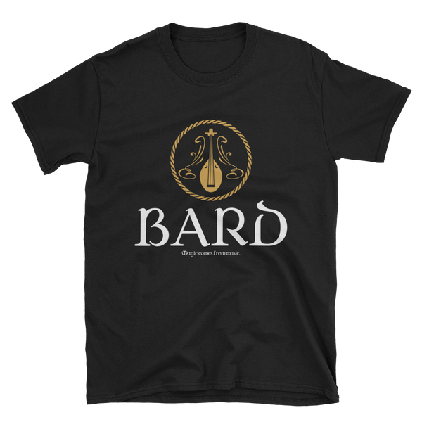 Bard Alternate Emblem Unisex RPG T-Shirt - Dungeon Armory
