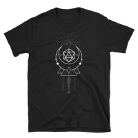 D20 Dice with Geometric Symbols Unisex RPG Shirt - Dungeon Armory - Tabletop RPG Shirt Dungeons & Dragons T-Shirt Pathfinder RPG T-Shirt