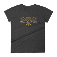 Roll Like a Girl D20 Dice Women's RPG Shirt - Dungeon Armory - Tabletop RPG Shirt Dungeons & Dragons T-Shirt Pathfinder RPG T-Shirt