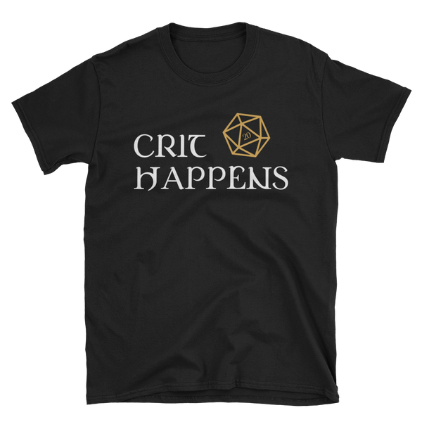 Dungeons and Dragons Shirt - Crit Happens with D20 Dice Unisex RPG Shirt - DnD Shirts Dungeon Armory