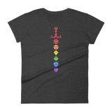 Dungeons and Dragons Shirt - Rainbow Dice Sword Solid Colors Women's RPG Shirt - DnD Shirts Dungeon Armory