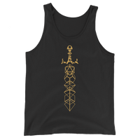 Minimalist Dice Sword Gold Unisex RPG Tank Top - Dungeon Armory - Tabletop RPG Shirt Dungeons & Dragons T-Shirt Pathfinder RPG T-Shirt