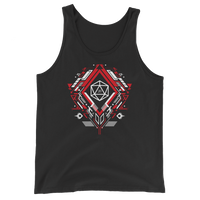 Polyhedral D20 Dice Mech Unisex RPG Tank Top - Dungeon Armory - Tabletop RPG Shirt Dungeons & Dragons T-Shirt Pathfinder RPG T-Shirt