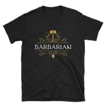Barbarian Emblem Unisex RPG Shirt - Dungeon Armory - Tabletop RPG Shirt Dungeons & Dragons T-Shirt Pathfinder RPG T-Shirt