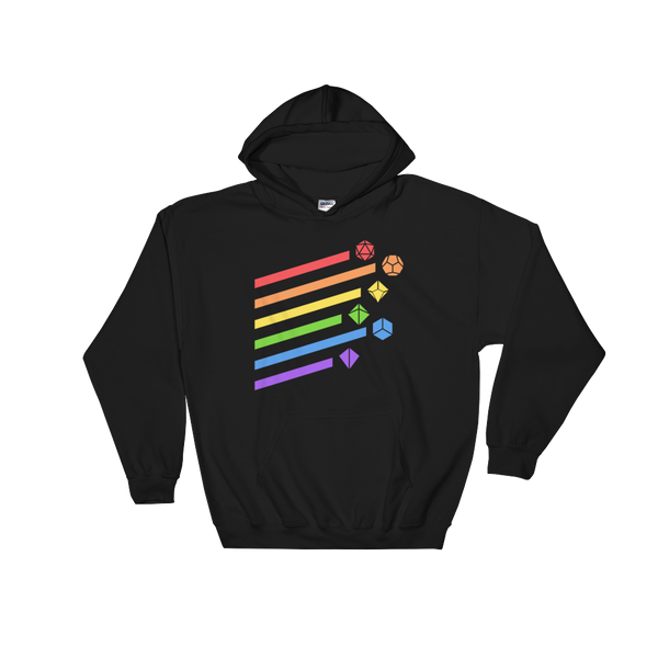 Dungeons and Dragons Shirt - Rainbow Dice Set Unisex Hoodie - DnD Shirts Dungeon Armory