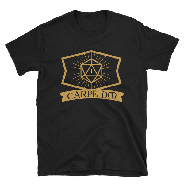 Carpe DM - Dungeon Master Unisex RPG Shirt - Dungeon Armory - Tabletop RPG Shirt Dungeons & Dragons T-Shirt Pathfinder RPG T-Shirt