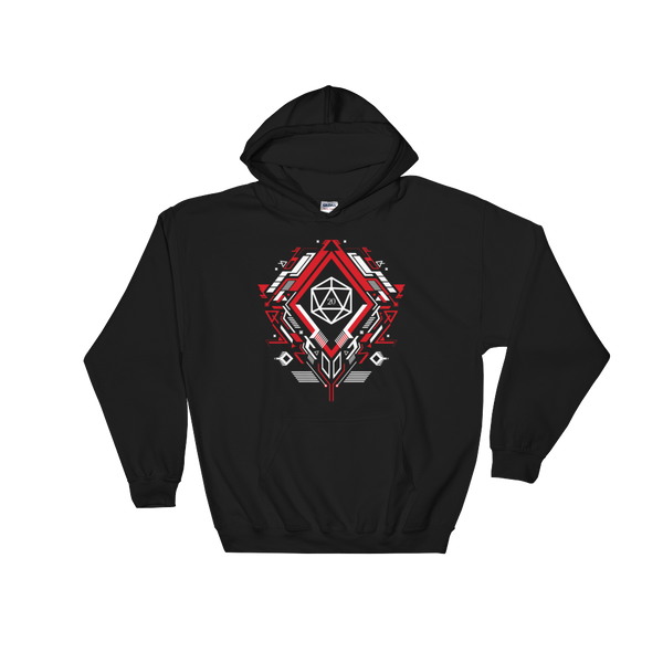 Polyhedral D20 Dice Mech Unisex RPG Hoodie - Dungeon Armory - Tabletop RPG Shirt Dungeons & Dragons T-Shirt Pathfinder RPG T-Shirt