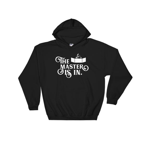 The Master Is In - DM Game Master RPG Hoodie - Dungeon Armory - Tabletop RPG Shirt Dungeons & Dragons T-Shirt Pathfinder RPG T-Shirt