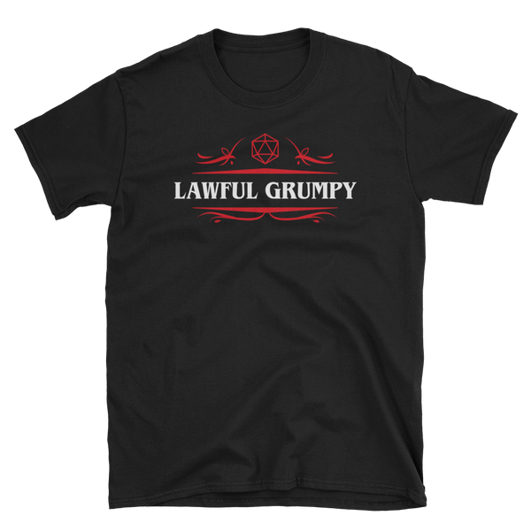 Dungeons and Dragons Shirt - Lawful Grumpy Alignment Unisex RPG Shirt - DnD Shirts Dungeon Armory