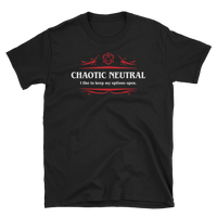 Options Open Chaotic Neutral Alignment Unisex RPG Shirt - Dungeon Armory - Tabletop RPG Shirt Dungeons & Dragons T-Shirt Pathfinder RPG T-Shirt