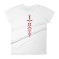 Red Dice Sword Women's Shirt - Dungeon Armory - Tabletop RPG Shirt Dungeons & Dragons T-Shirt Pathfinder RPG T-Shirt