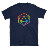 Rainbow Polyhedral D20 Dice Unisex RPG Shirt - Dungeon Armory - Tabletop RPG Shirt Dungeons & Dragons T-Shirt Pathfinder RPG T-Shirt