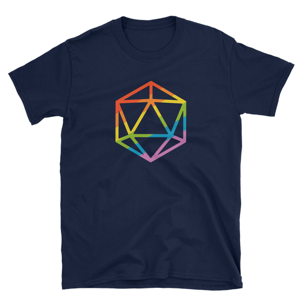 Rainbow Polyhedral D20 Dice Unisex RPG Shirt