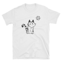 Cute Cat With D20 Dice Unisex RPG T-Shirt - Dungeon Armory - Tabletop RPG Shirt Dungeons & Dragons T-Shirt Pathfinder RPG T-Shirt
