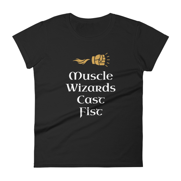 Muscle Wizards Cast Fist - Dungeon Armory - Tabletop RPG Shirt Dungeons & Dragons T-Shirt Pathfinder RPG T-Shirt