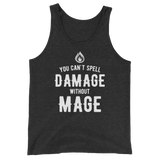 Dungeons and Dragons Shirt - You Can't Spell Damage Without Mage Unisex RPG Tank Tops - DnD Shirts Dungeon Armory