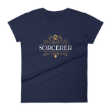 Sorcerer Emblem Women's RPG Shirt - Dungeon Armory - Tabletop RPG Shirt Dungeons & Dragons T-Shirt Pathfinder RPG T-Shirt