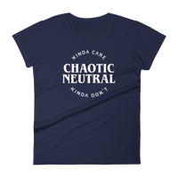 Kinda Care Kinda Don't Chaotic Neutral Alignment Women's RPG Shirt - Dungeon Armory - Tabletop RPG Shirt Dungeons & Dragons T-Shirt Pathfinder RPG T-Shirt