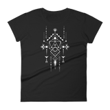 Dungeons and Dragons Shirt - Sacred Symbols with D20 Dice Women's RPG Shirt - DnD Shirts Dungeon Armory