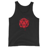 D20 Dice Spray Paint Unisex RPG Tank Top - Dungeon Armory - Tabletop RPG Shirt Dungeons & Dragons T-Shirt Pathfinder RPG T-Shirt