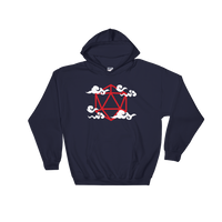 Dungeons and Dragons Shirt - Polyhedral D20 Dice Anime Clouds Unisex RPG Hoodie - DnD Shirts Dungeon Armory