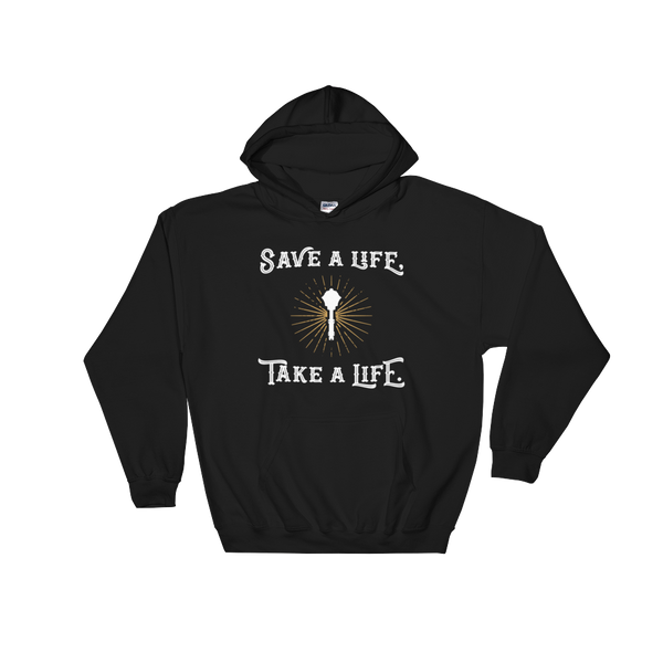 Take A Life Save A Life Cleric RPG Hoodie - Dungeon Armory - Tabletop RPG Shirt Dungeons & Dragons T-Shirt Pathfinder RPG T-Shirt